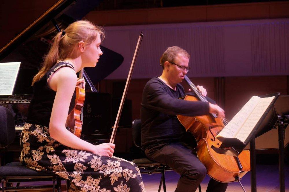 Timo-Veikko Valve Cellist With Violinist